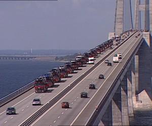 Autotransportere på Storebælt